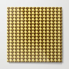 The Gold Squares Metal Print