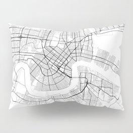 New Orleans Louisiana Street Map Pillow Sham