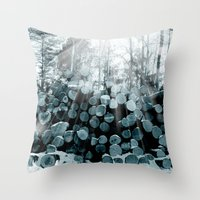 wood Throw Pillows featuring wood  by mark ashkenazi