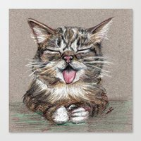 lil bub Canvas Prints featuring Cat *Lil Bub*  by Pendientera