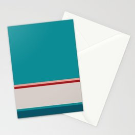 A beautiful package of Rouge, Pastel Pink, Silver, Dark Cyan and Petrol stripes. Stationery Cards