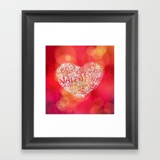 Floral heart Framed Art Print