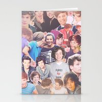 larry stylinson Stationery Cards featuring Harry and Louis - Larry Stylinson by Troy Abed