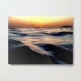 Sunset in Aruba Metal Print