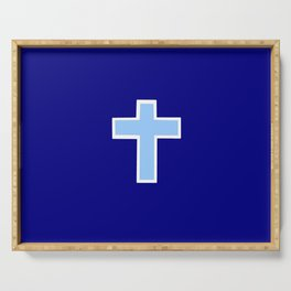 Christian cross 14 Serving Tray
