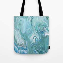 North Shore Swirls - Marble Fluid Abstract Blue Turquoise Art Tote Bag