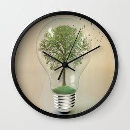 green ideas Wall Clock