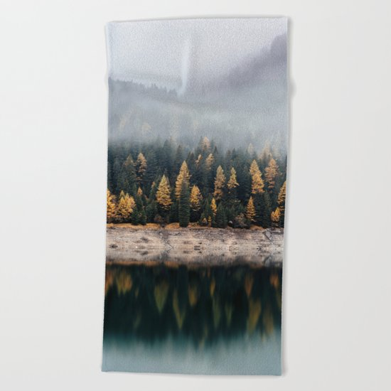 autumn vibes Beach Towel