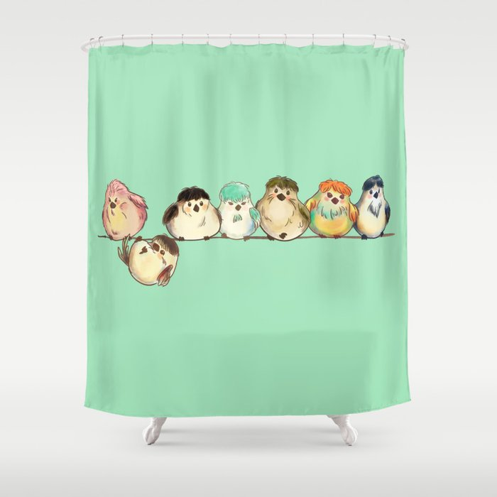 Baebsae Birds Shower Curtain
