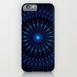 Blue Light Mandala iPhone Case