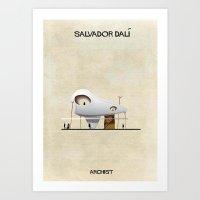 salvador dali Art Prints featuring Salvador Dali by federico babina