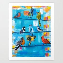Bird Celebration Art Print