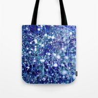 constellations Tote Bags featuring constellations by Sandra Arduini