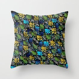 elegant modern pattern with dots circling shiny colored chick glittery Throw Pillow