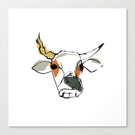 This is the cow with the crumpled horn... Canvas Print