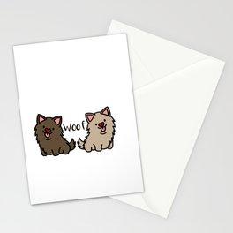 Newfoundland dogs Doggie Puppy Dog Couple Stationery Cards