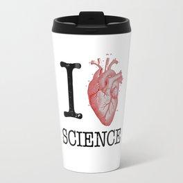 I Love Heart Science T Shirt - Biology Tee Tshirt Teacher Travel Mug