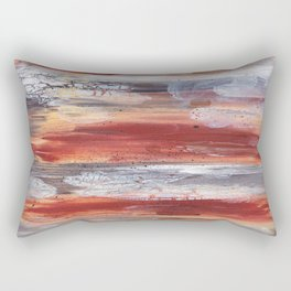 Rock Study in Browns Rectangular Pillow