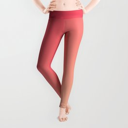 Mandarin Red - Gradients are the new colors Leggings