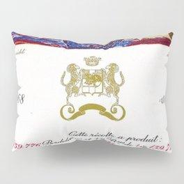 Vintage 1968 Chateau Rothschild Wine Bottle Label Print Pillow Sham