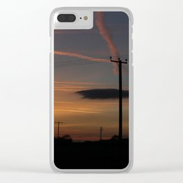 English Lincolnhire Sky at Sunset Clear iPhone Case