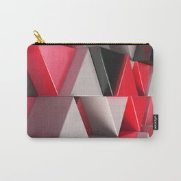 Pattern of black, white and red triangle prisms Carry-All Pouch
