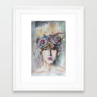 headdress Framed Art Prints featuring Headdress  by Talitha Etters