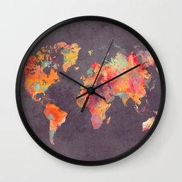 world map 67 Wall Clock