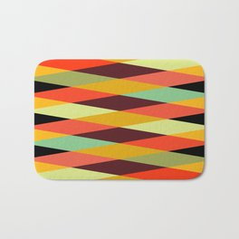 Geometric Pattern #28 (crisscross) Bath Mat