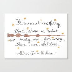 Choices Dumbledore J.K. Rowling Quote Canvas Print