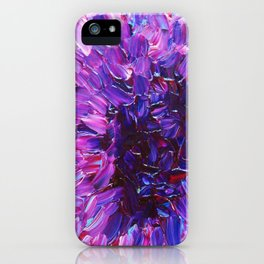 LOTUS BLOSSUM - Beautiful Purple Floral Abstract, Modern Decor in Eggplant Plum Lavender Lilac iPhone Case