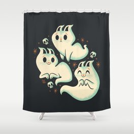 Ghost Cats Shower Curtain