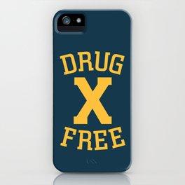 Drug Free X iPhone Case