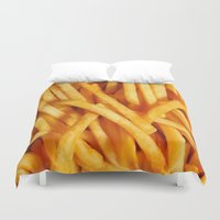 fries Duvet Covers featuring Fries by Maioriz Home