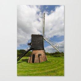 Post mill windmill Canvas Print