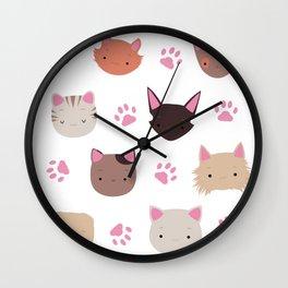Cat pattern Wall Clock