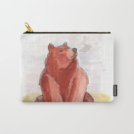 Winter Grizzly Bear Carry-All Pouch