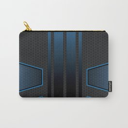 Carbon Tech Blue Abstract Carry-All Pouch