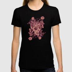 Rotting flowers Womens Fitted Tee Black MEDIUM