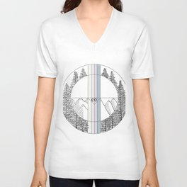 Geometric Colorado Art Unisex V-Neck