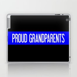 Police: Proud Grandparents (Thin Blue Line) Laptop & iPad Skin