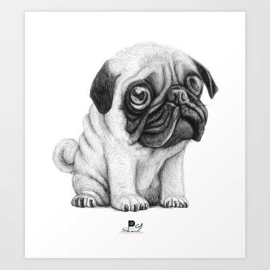 Pug Pug 01 Art Print