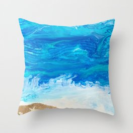 Waves of the Sea Throw Pillow