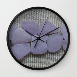 Dark Purple Sea Glass Wall Clock