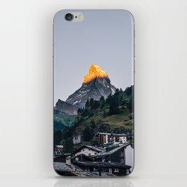 Beautiful Matterhorn in Sunrise iPhone Skin