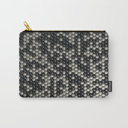 Pattern of black and white spheres Carry-All Pouch