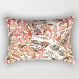 rowan leaves in watercolor Rectangular Pillow