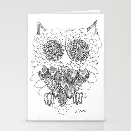 Angelina Bowen Fine Art Print- Owl Stationery Cards