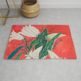 Easter Lily Bouquet Rug