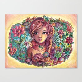 Spring Young Fairy Canvas Print